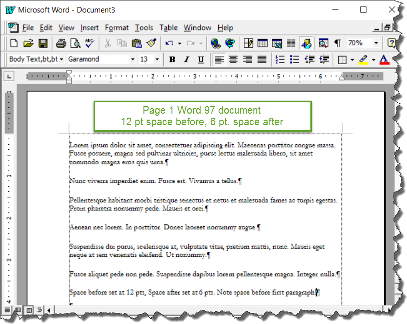 Understanding styles in microsoft word a tutorial in the space before and space after settings in paragraph styles ccuart Choice Image