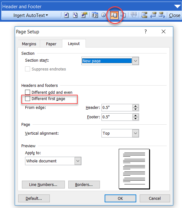 Sections / Headers And Footers In Microsoft Word