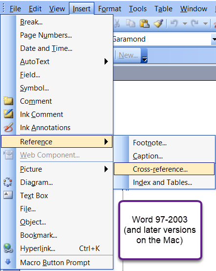 How to do a bookmark in ms word not responding