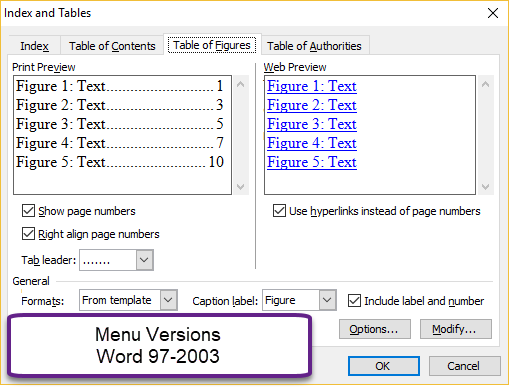 Complex Documents Microsoft Word Intermediate Users Guide Table