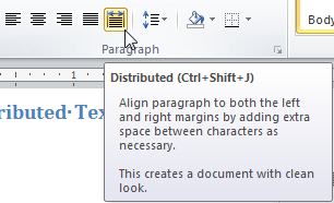Text Justification and Alignment in Microsoft Word