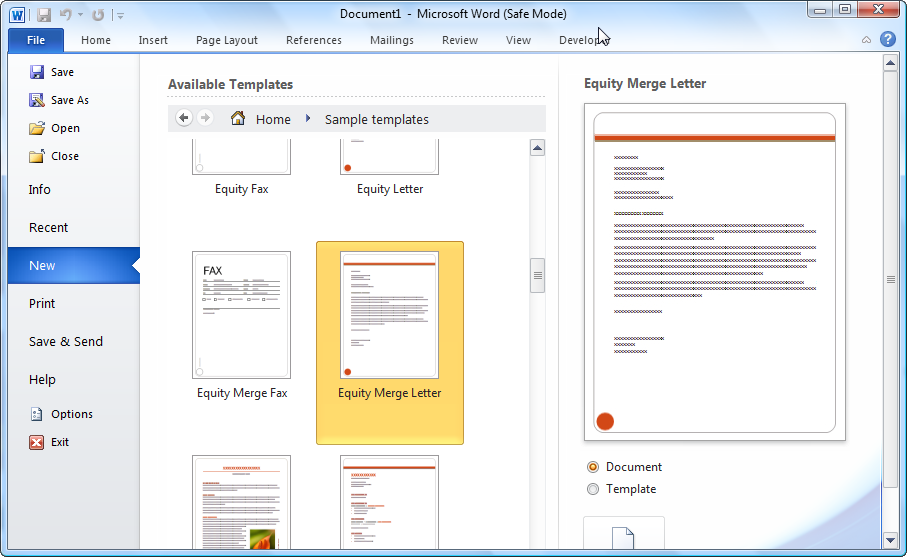microsoft templates for word 2010