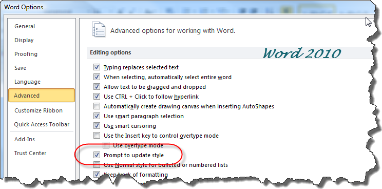 how to put words directly underin microsoft word