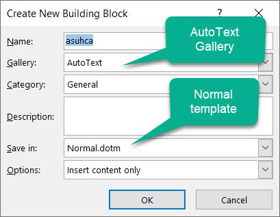 Automated Boilerplate Using Microsoft Word - Autotext