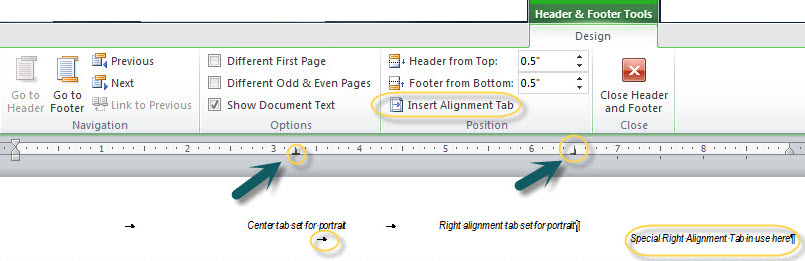 Basic formatting in microsoft word intermediate users guide to working with tabs spiritdancerdesigns Images