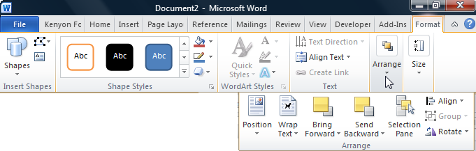 The Ribbons Of Microsoft Word 2007