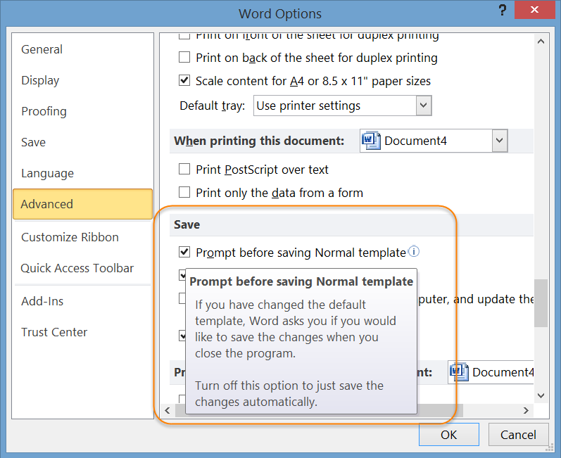 Add ins in microsoft word for Change the normal template in word 2010