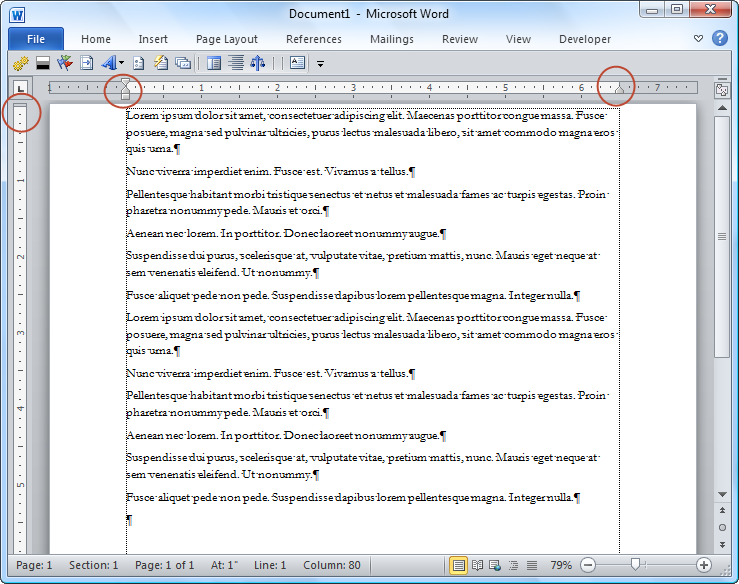 libreoffice how to change page margins vertical