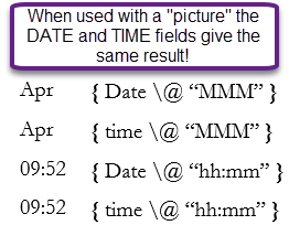 Using Date Fields in Microsoft Word