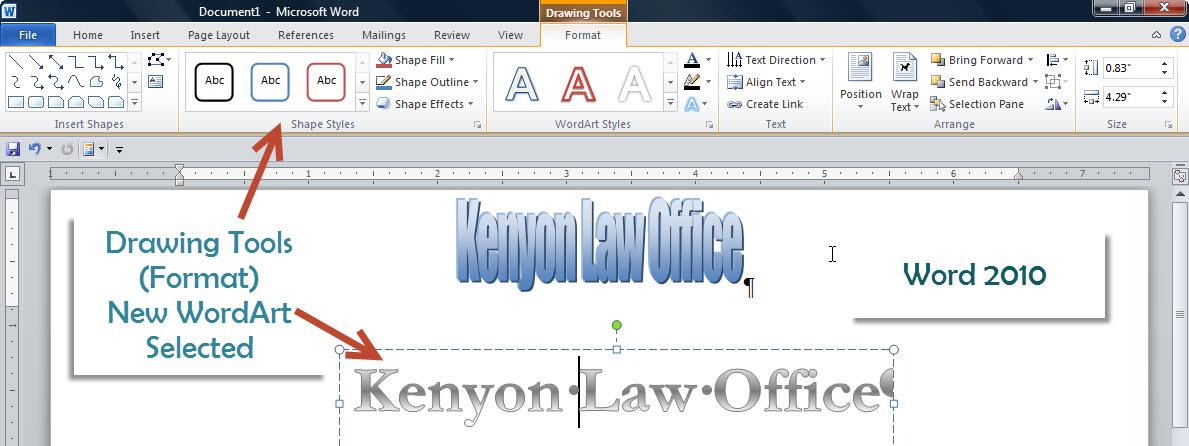 Wordart In Word 2010