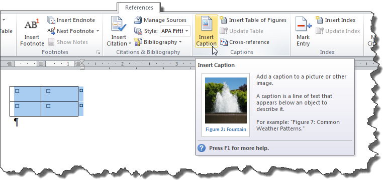 How To Caption Pictures In Word 2